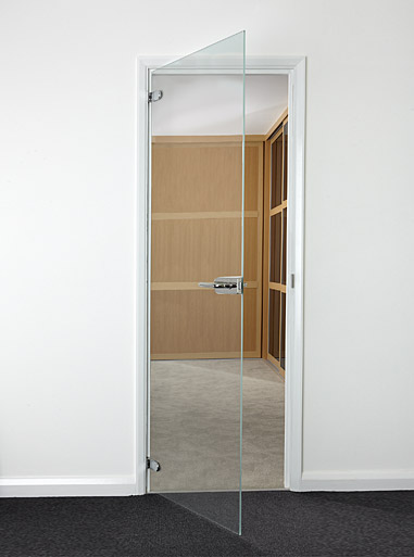 Interior Standard Size Hinged Glass Doors Toughened Glass